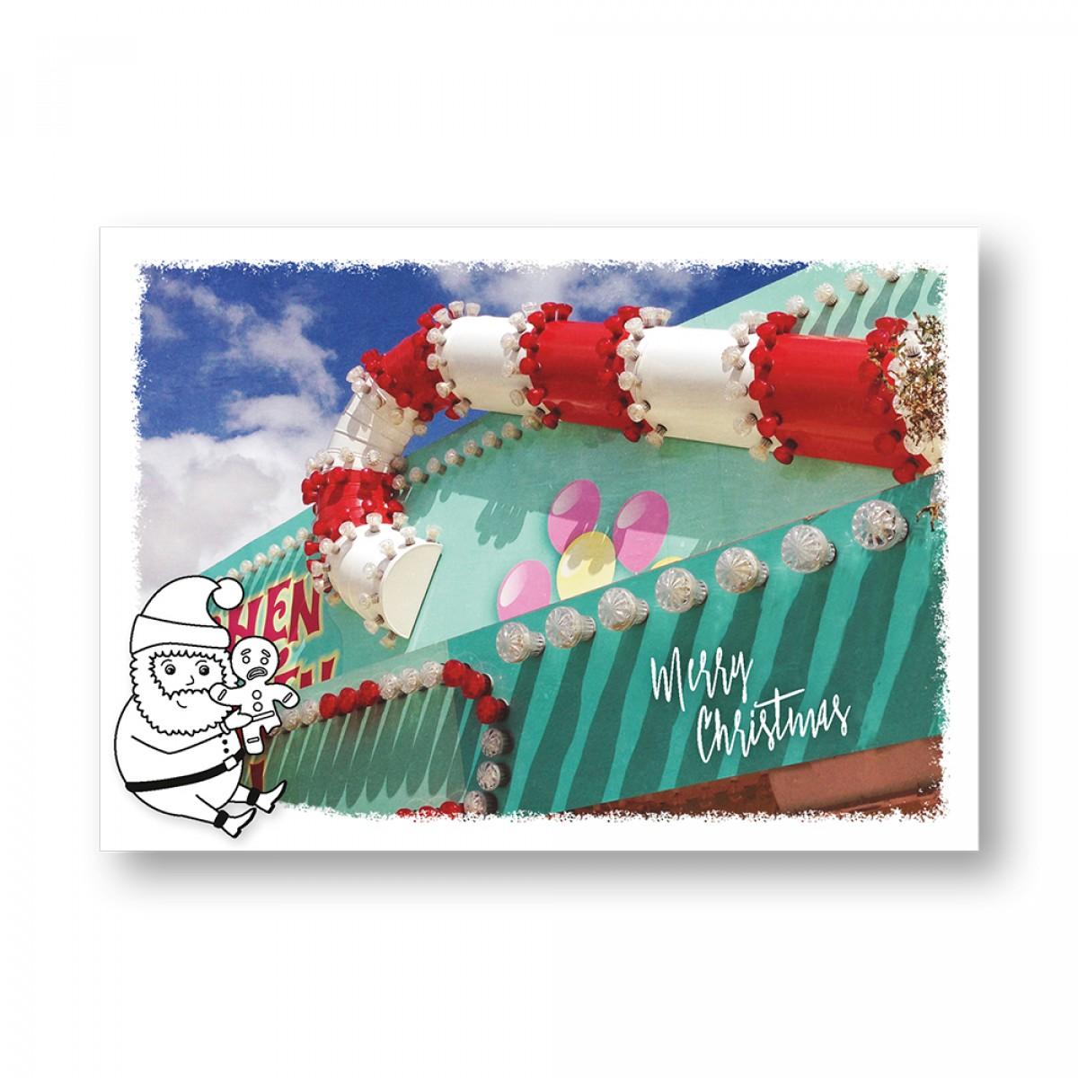 "Frau Schnobel Grafik XMAS Weihnachtspostkarten ""Delikat"" 5er Set"