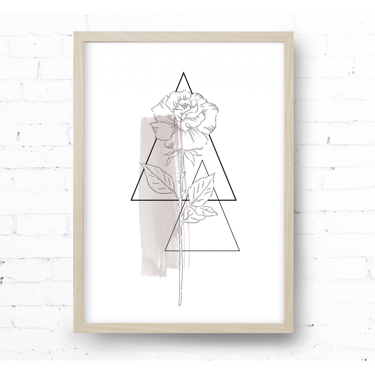 Kruth Design POSTER / TATTOO ROSE TAUPE