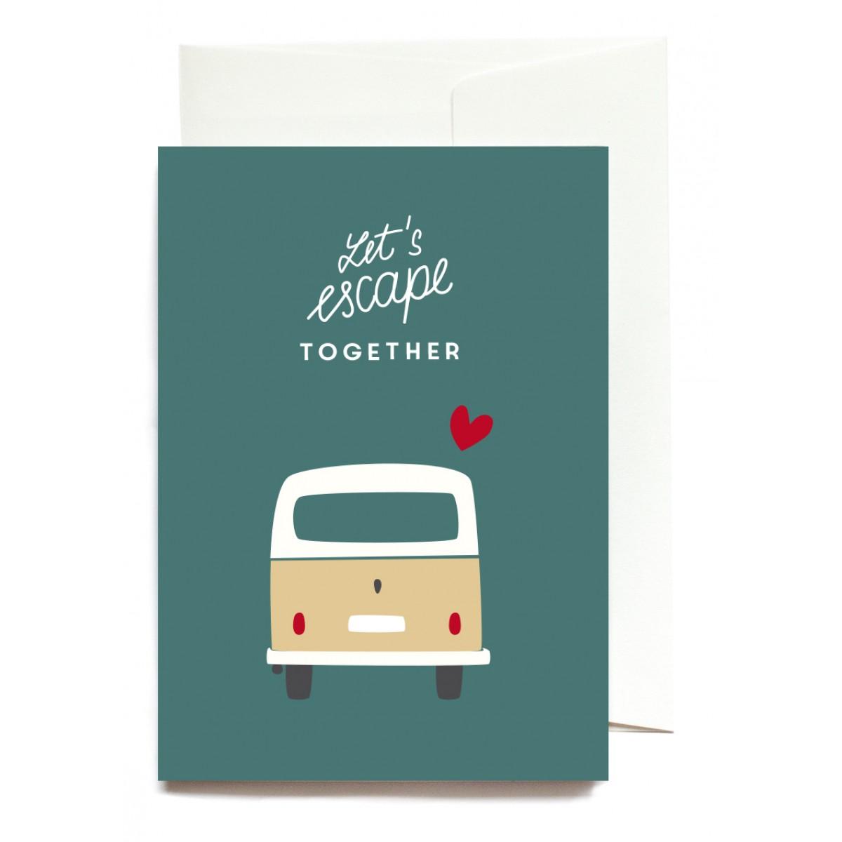 """""""Let´s Escape Together"""" Klappkarte von Roadtyping"""