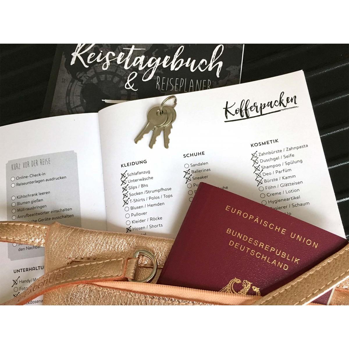 """Reisetagebuch + Reiseplaner für Kurztrips """"Verewige Dich!"""""""