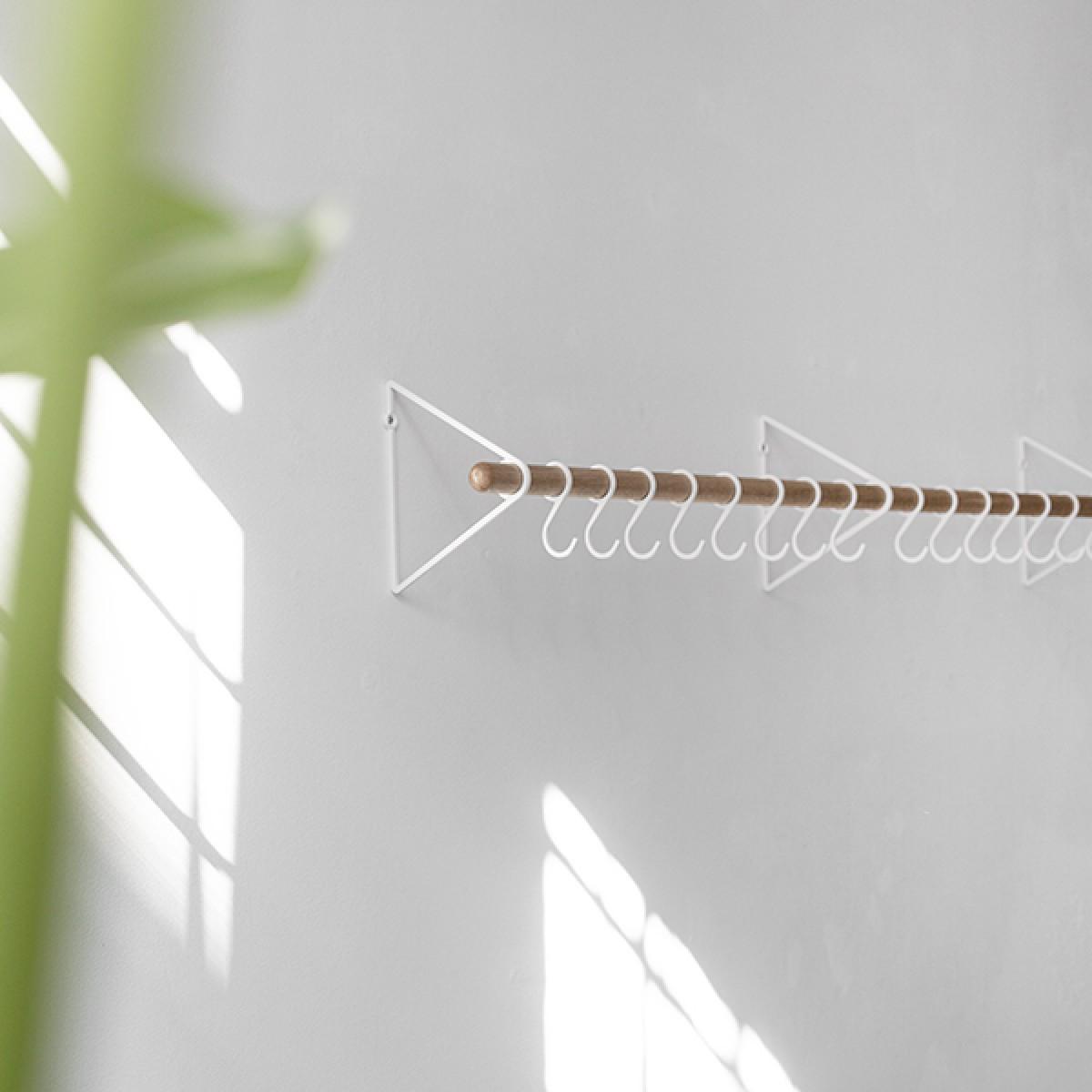 Garderobenhaken für SOLID Flurgarderobe, 5 Stück Weiß (Zubehör) | Result Objects