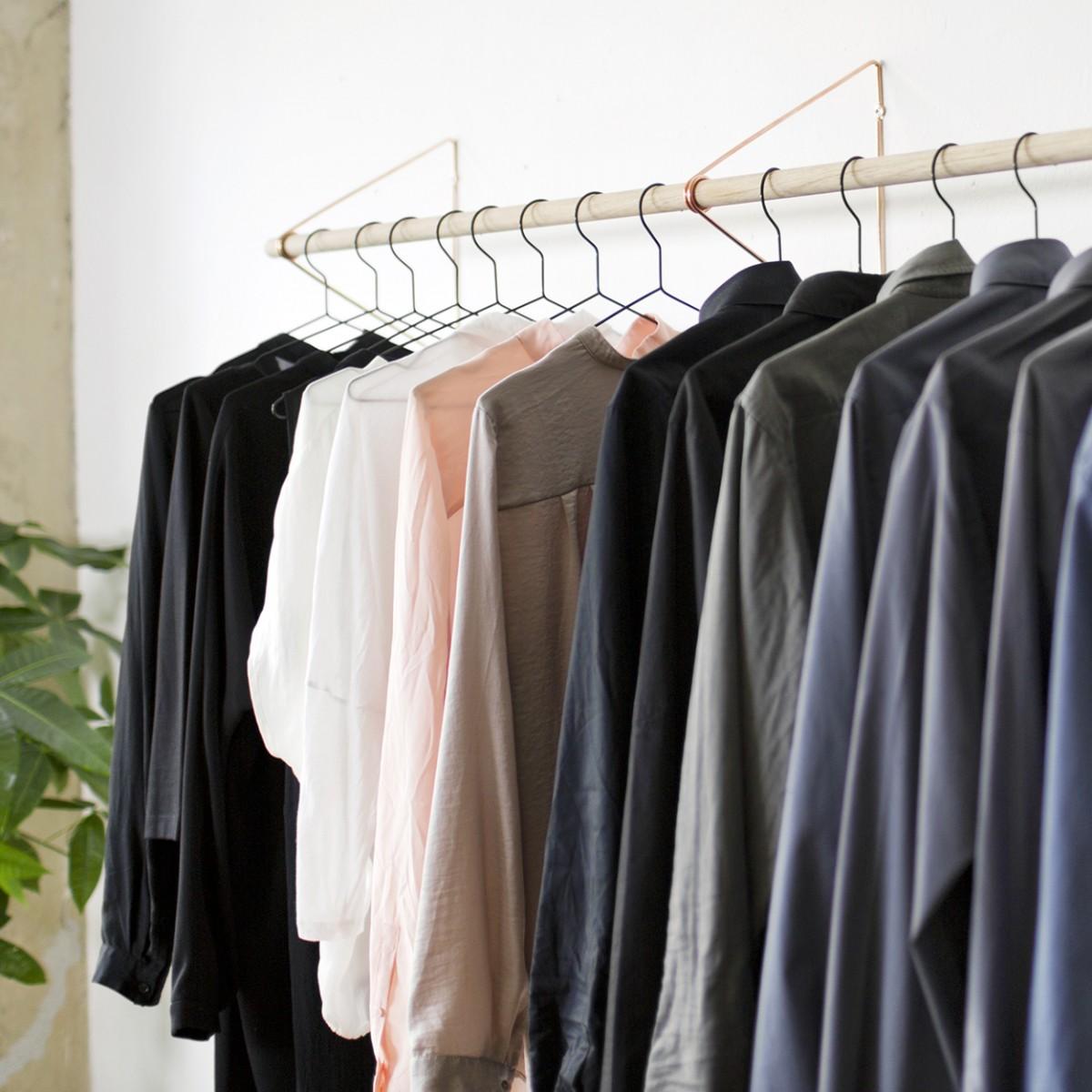 SPRING Garderobensystem in Kupfer, viele verschiedene Längen | Result Objects