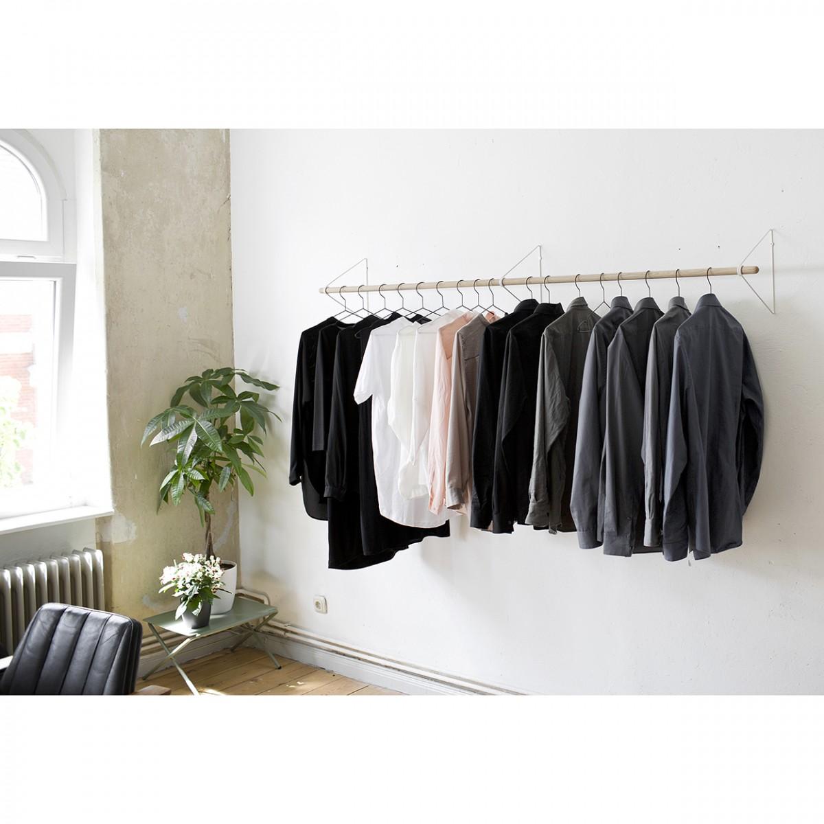 SPRING Garderobensystem in Weiß, viele verschiedene Längen | Result Objects