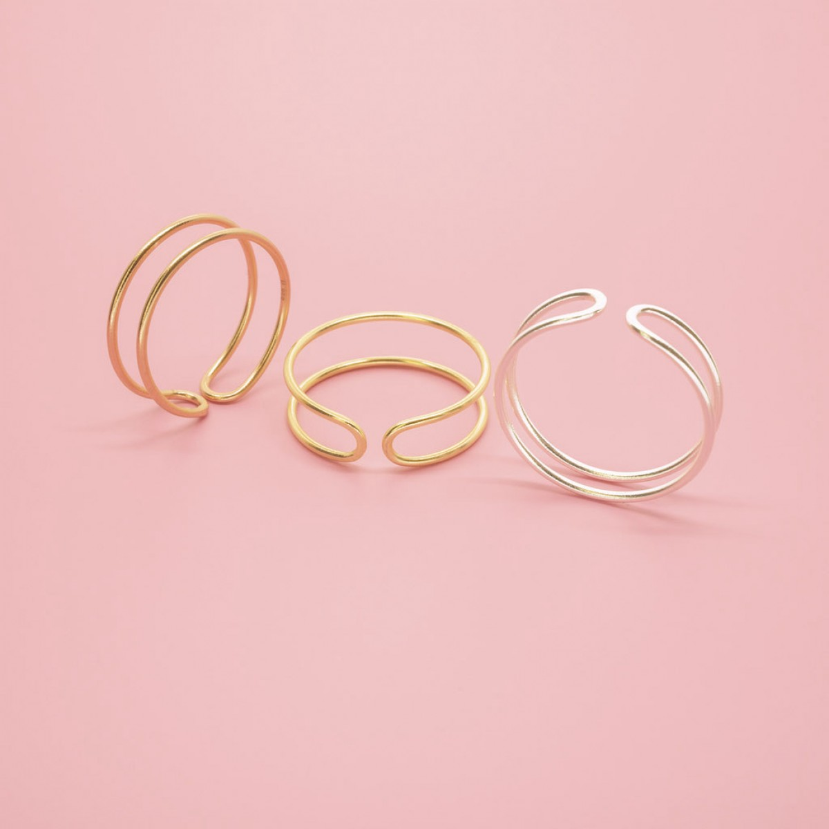 fejn jewelry - Double Ring Roségold