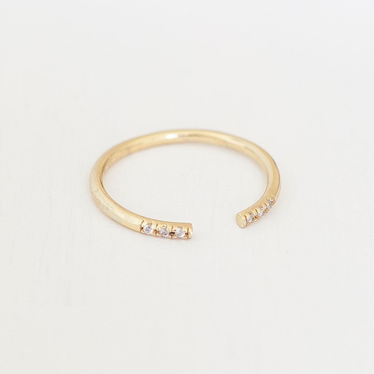 Oh Bracelet Berlin – Stapelring VI offen aus 925 Sterlingsilber vergoldet