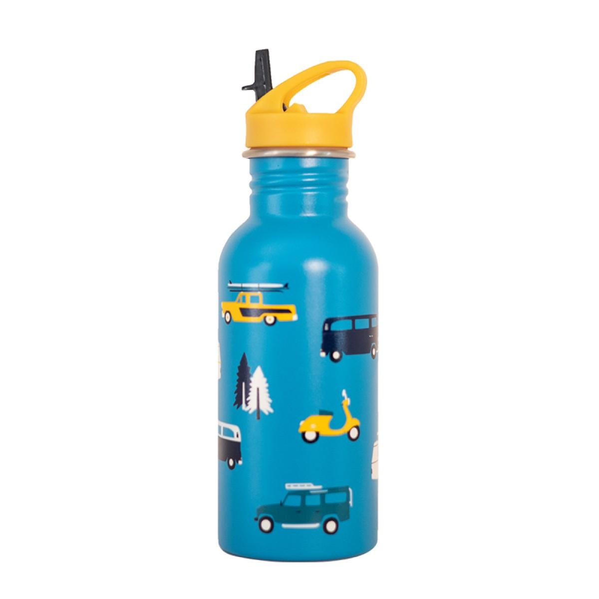 Roadtyping Kinder Edelstahlflasche Abenteuer Autos