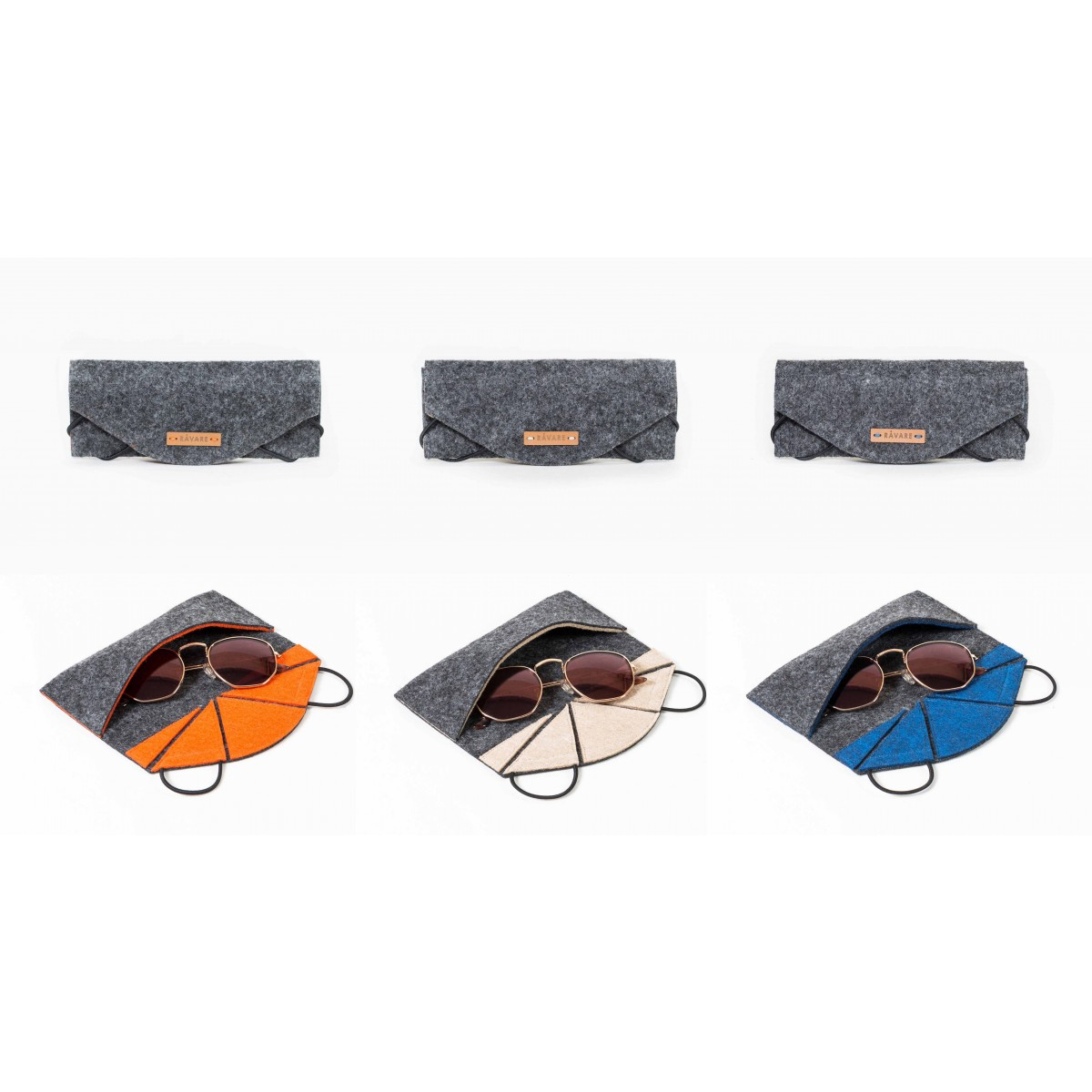 RÅVARE Sonnenbrillenetui, Brillenetui in verschiedenen Farben [ROEL]