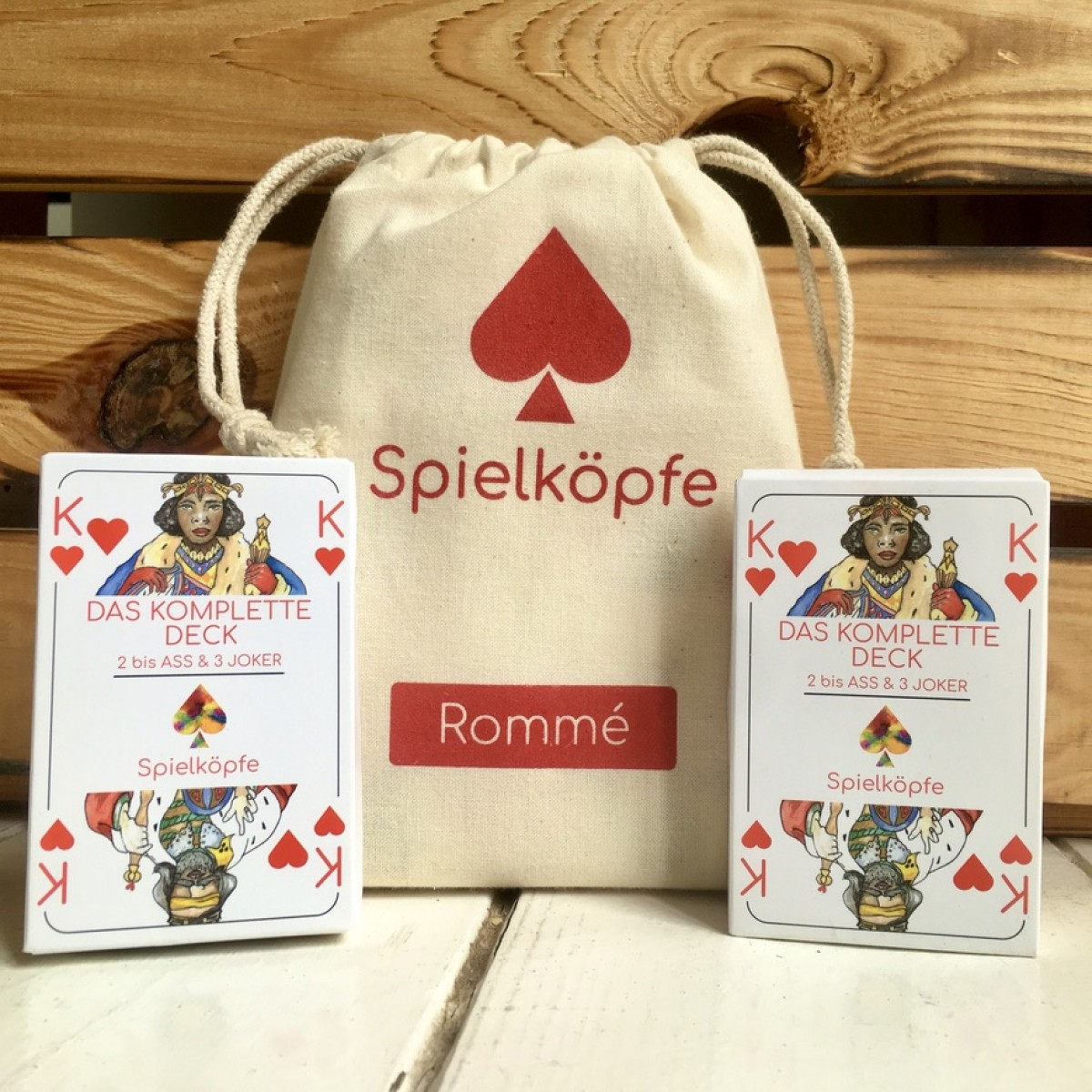 Spielköpfe Spielkarten - Rommé - Das gendergerechte Kartendeck