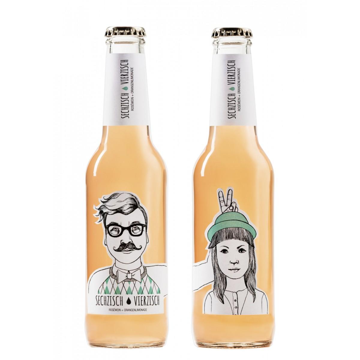 Sechzisch Vierzisch - Roséwein+Orangenlimonade 0,275ml / 6,4%vol(15er Kiste)
