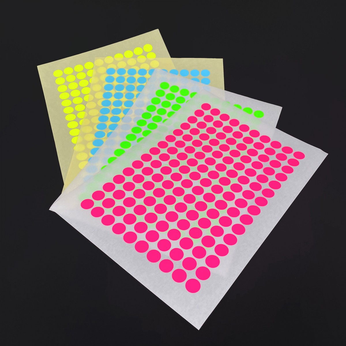 REMOVABLE PAPER STICKY DOTS / For NOW IS BETTER Calendar / 4 sheets
