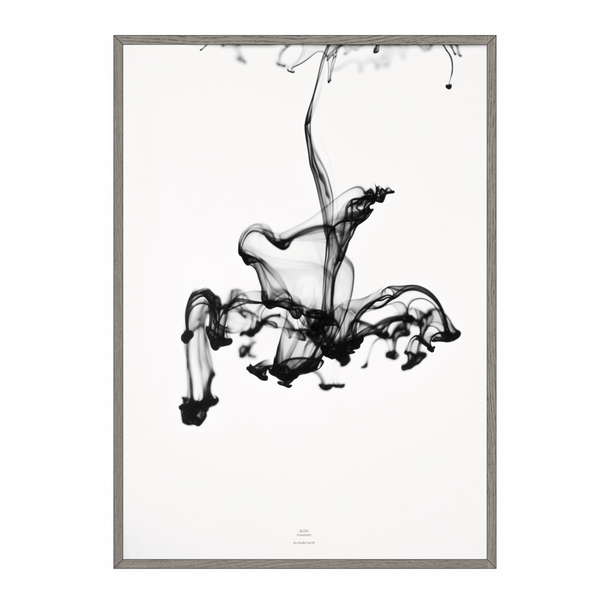na.hili SLOW movement - black Artprint A3, 50x70, A1 Poster