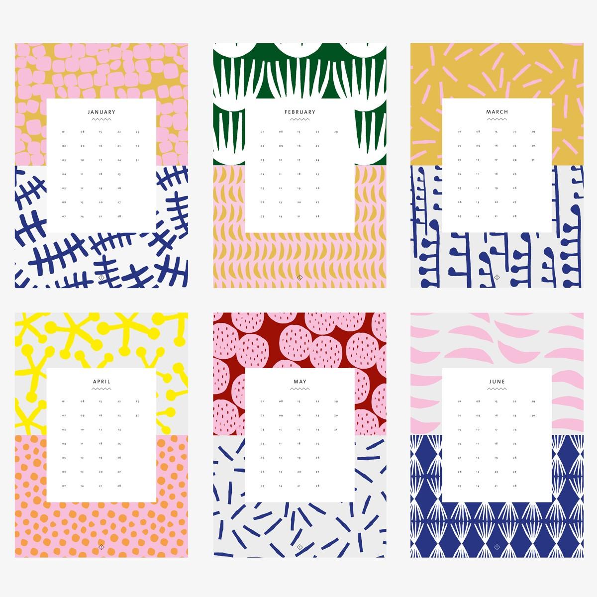 Wandkalender DIN A4 / Pattern