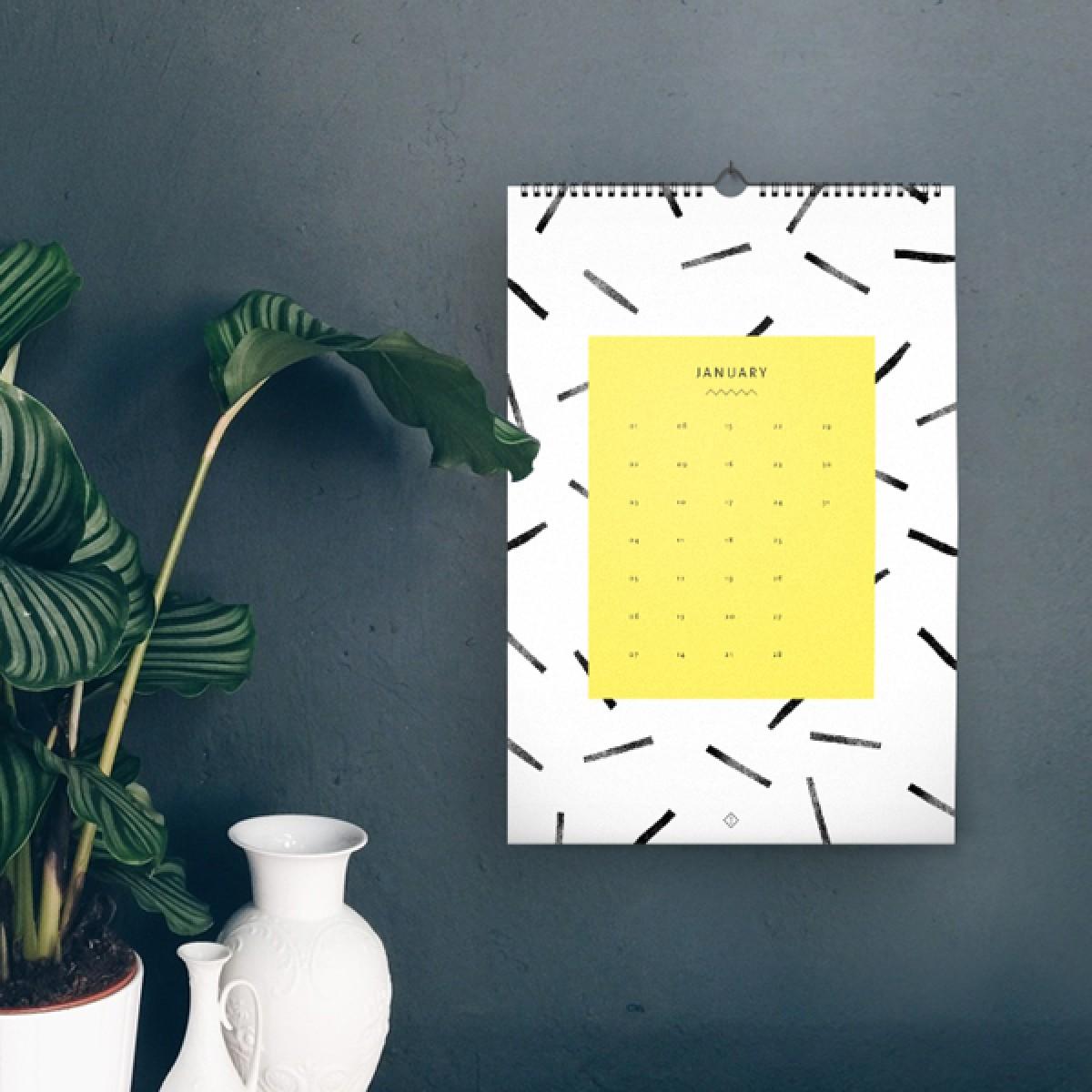 Wandkalender DIN A4 / Black & White