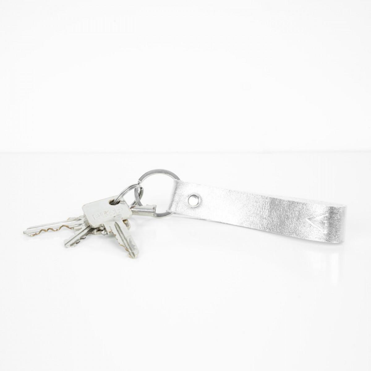 Geschenkset: Etui und Schlüsselanhänger (silber)