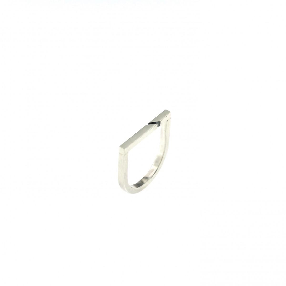 """DOPPELLUDWIG – Ring """"Geteilt"""" aus 925/- Silber"""