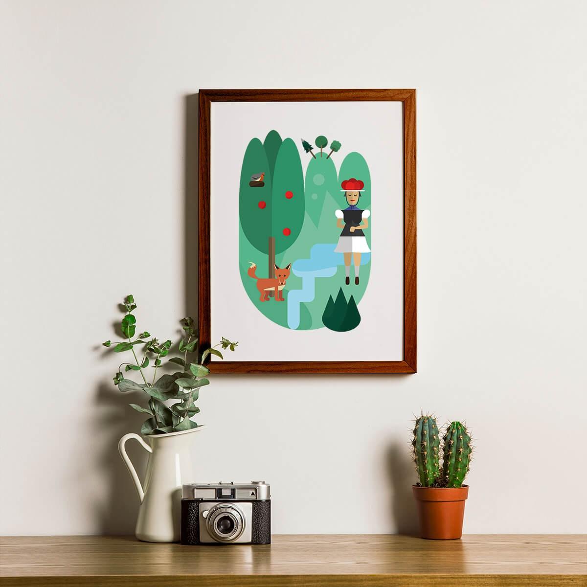 Chiara Tempel – Oh, du schöner Schwarzwald – Poster A3, Recyclingpapier