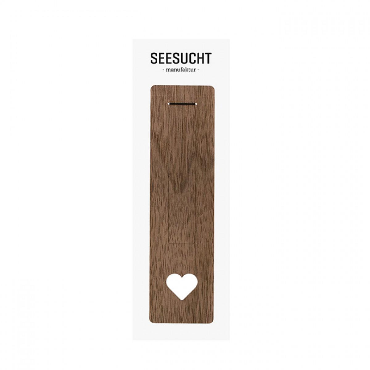 """Seesucht Manufaktur Lesezeichen """"Herz"""""""