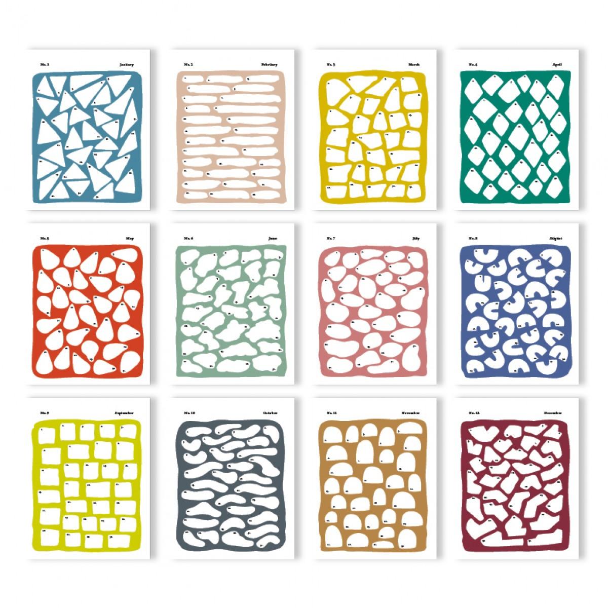 """Geburtstagskalender """"Happy Colori"""" (unendlicher Kalender)"""