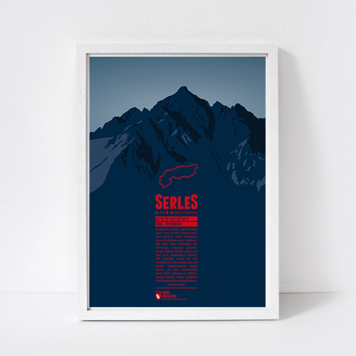 Marmota Maps – Serles - Bergdruck