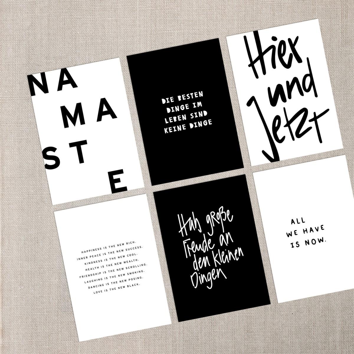 "Love is the new black – Postkarten Set ""Slow Living"""