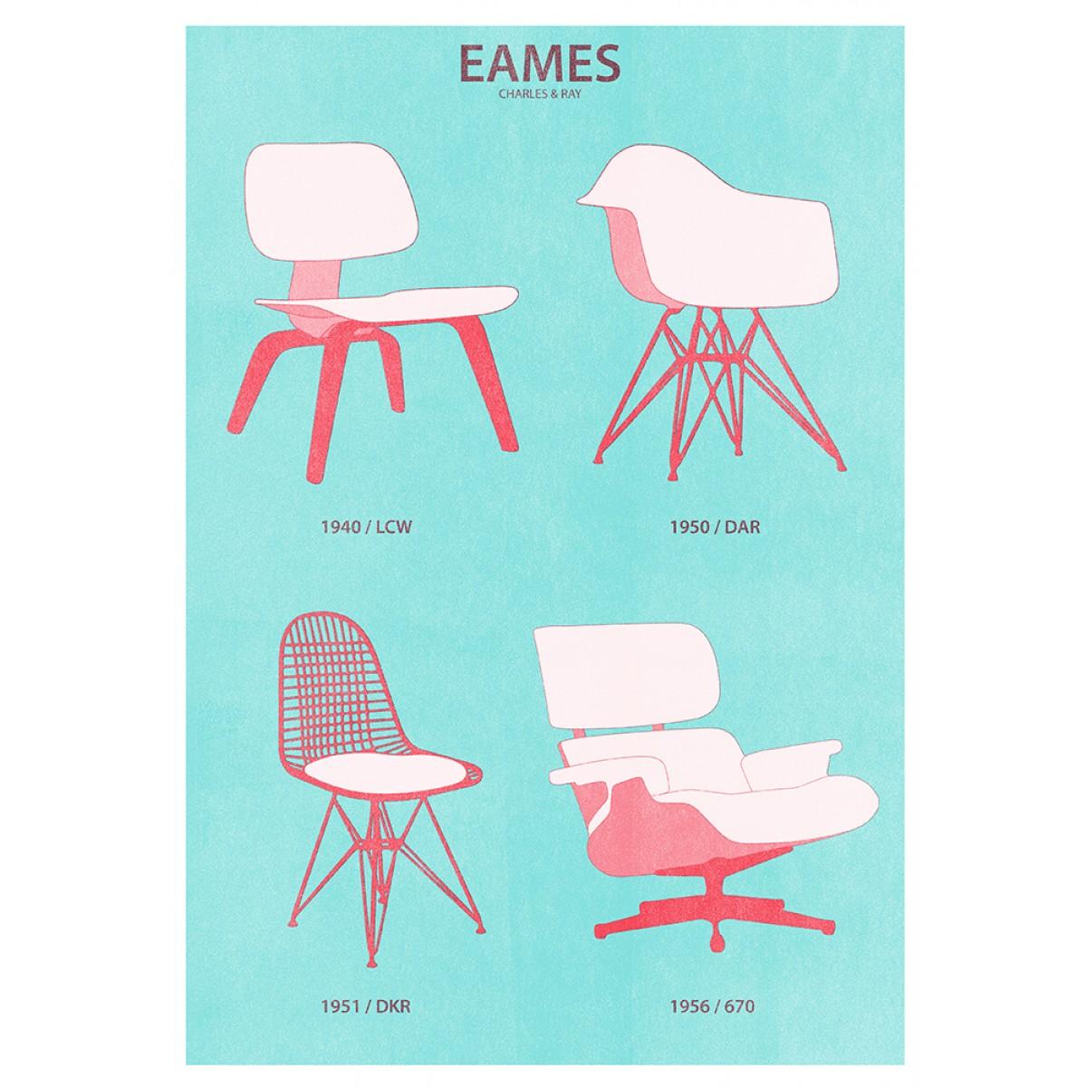 Haus der Riso - Eames - A3 Risograph-Druck