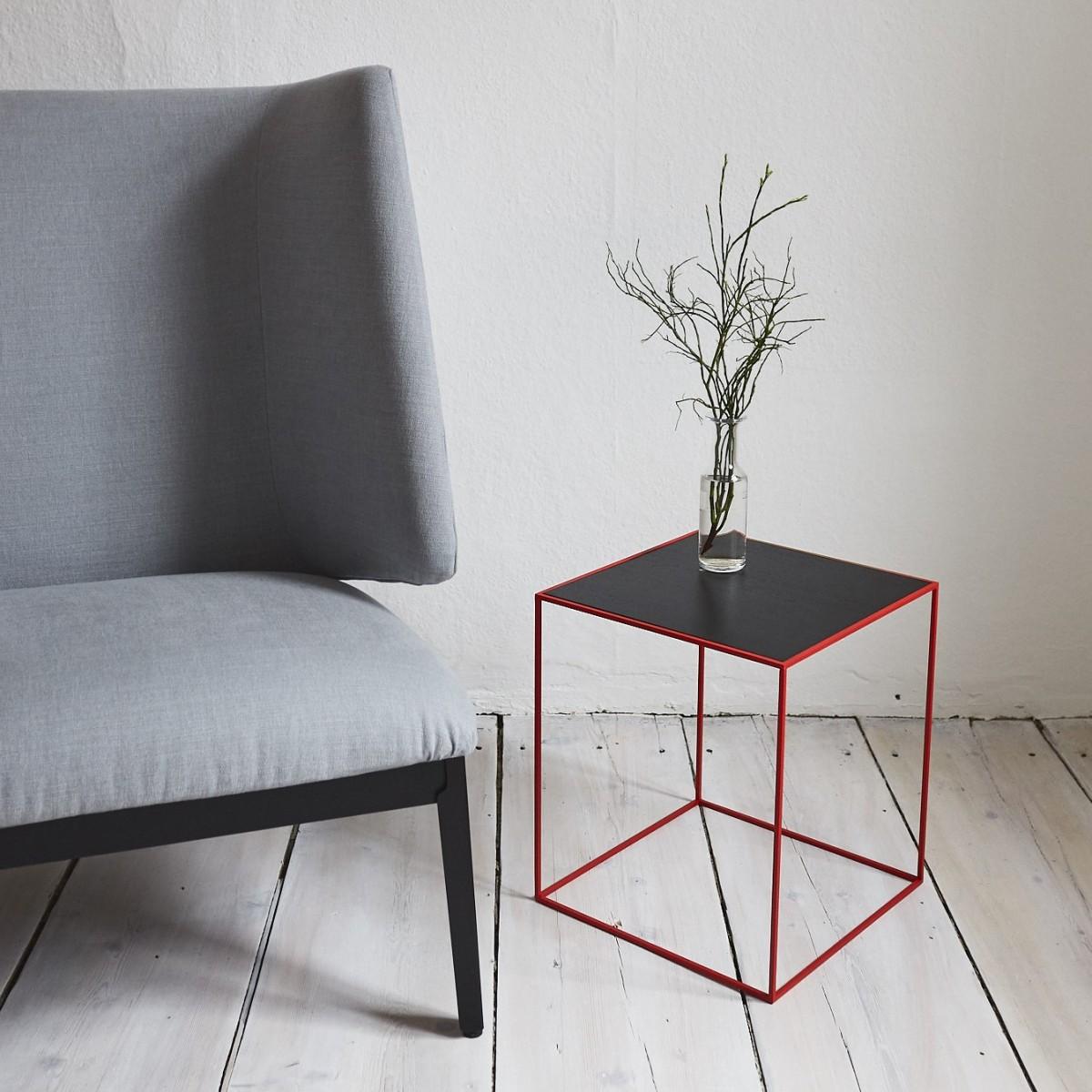 SkanBavaria Wuzzl - Beistelltisch mit Holzplatte (Esche schwarz) - Sonderedition