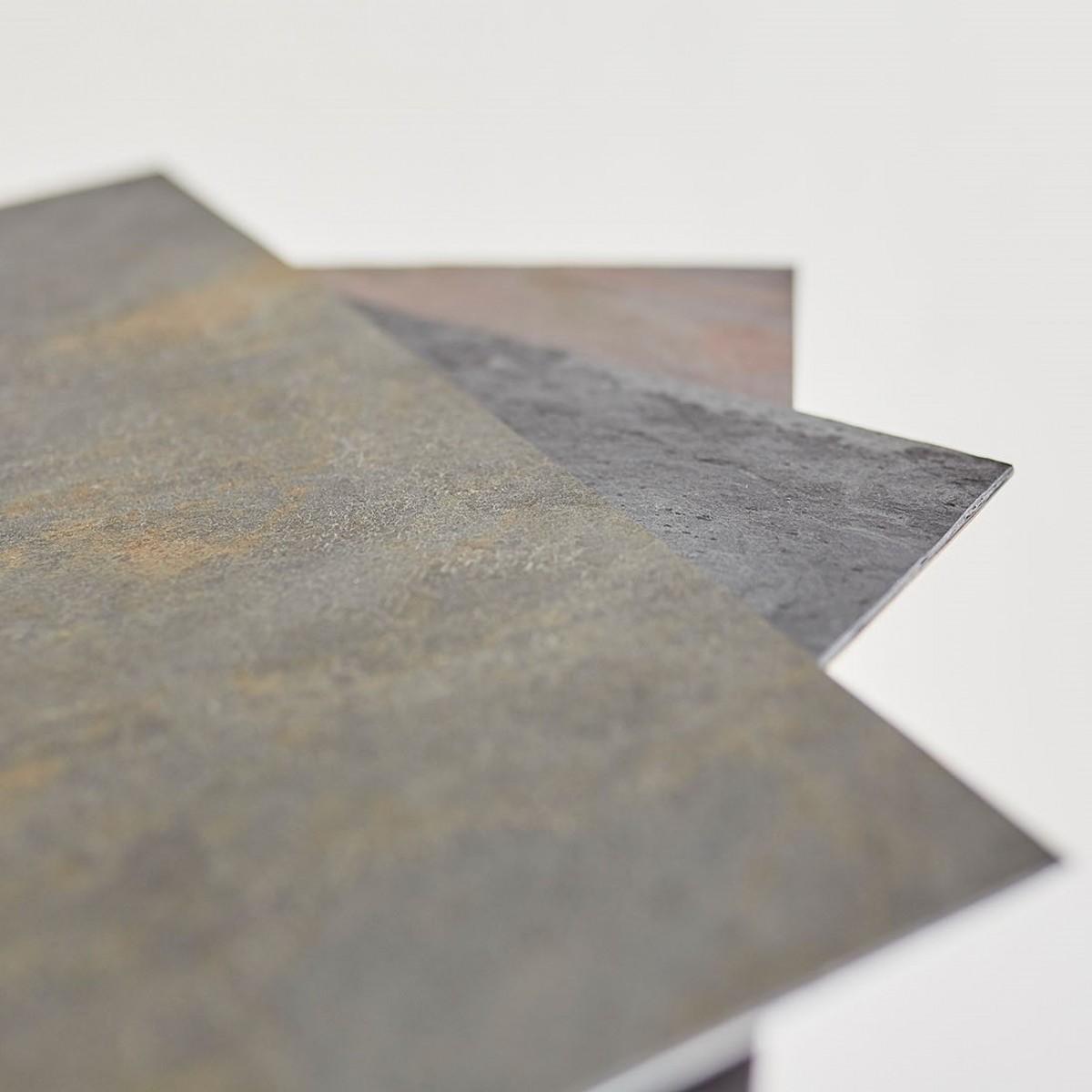 SkanBavaria Wuzzl - Beistelltisch mit Steinplatte (California Gold)