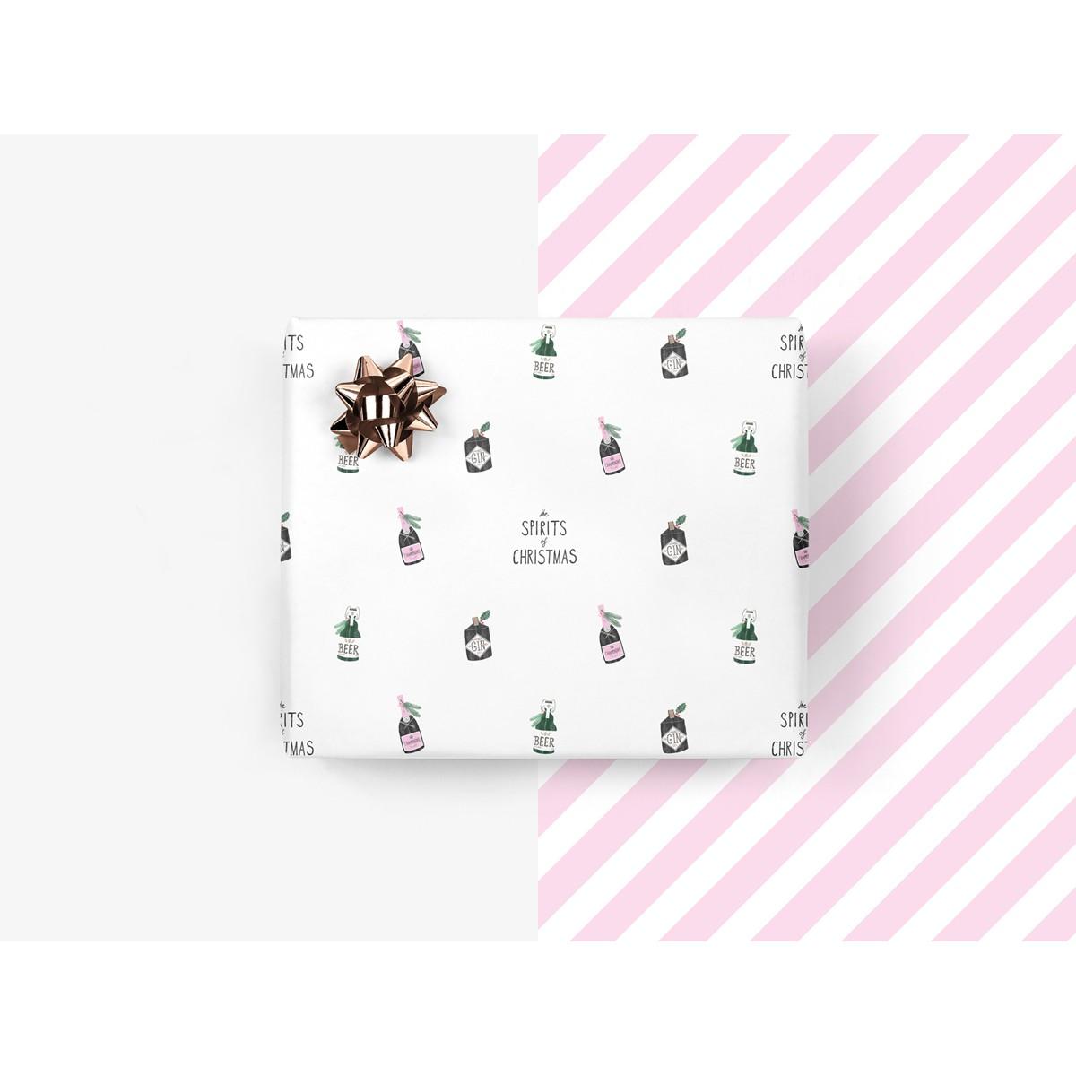 5x Geschenkpapier / Spirits of Christmas (gefaltet)