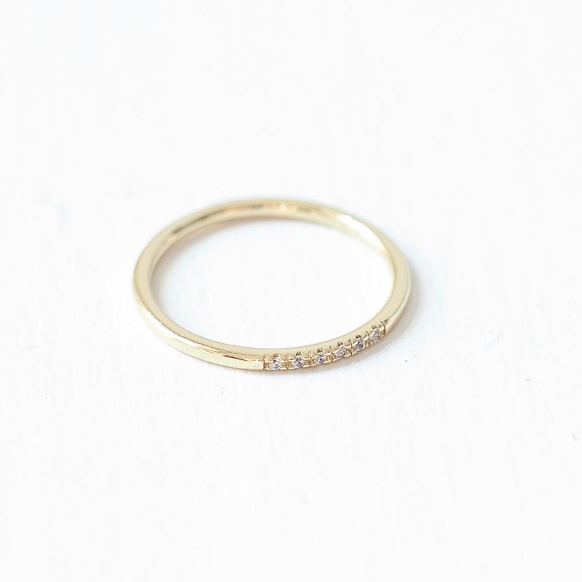 Oh Bracelet Berlin – Stapelring VI aus 925 Sterlingsilber vergoldet