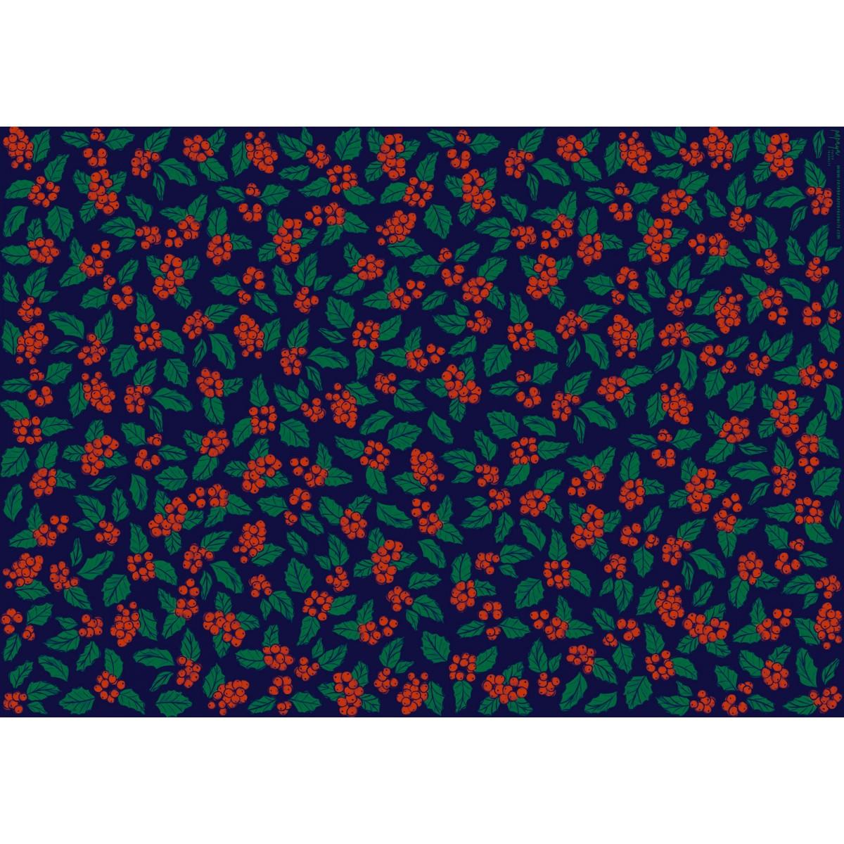 Geschenkpapier Stechpalme, 3 Bogen // Papaya paper products
