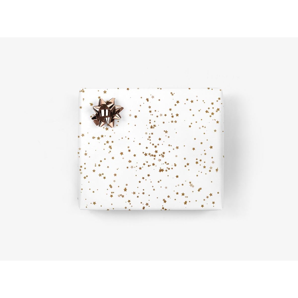5x Geschenkpapier / Sterne (gefaltet)