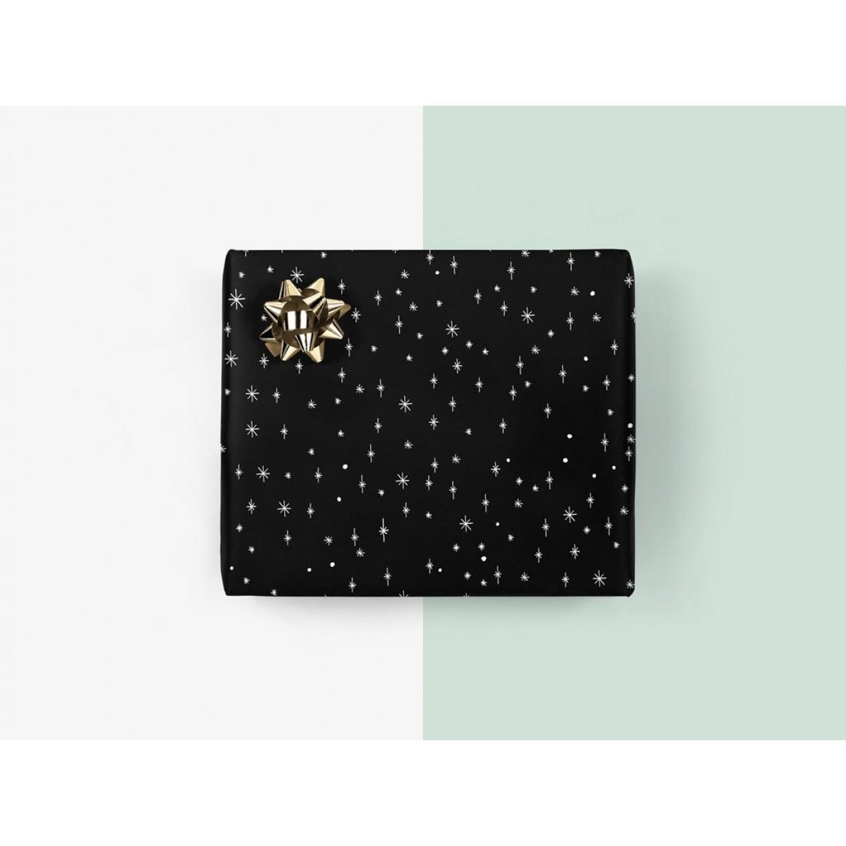 5x Geschenkpapier / Sternenhimmel (gefaltet)