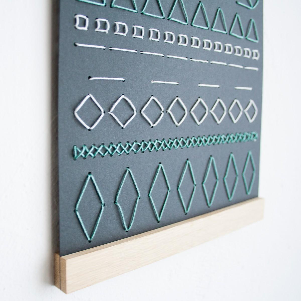 KLEINWAREN / VON LAUFENBERG Das Stickposter mit Magnetischer Posterleiste A4