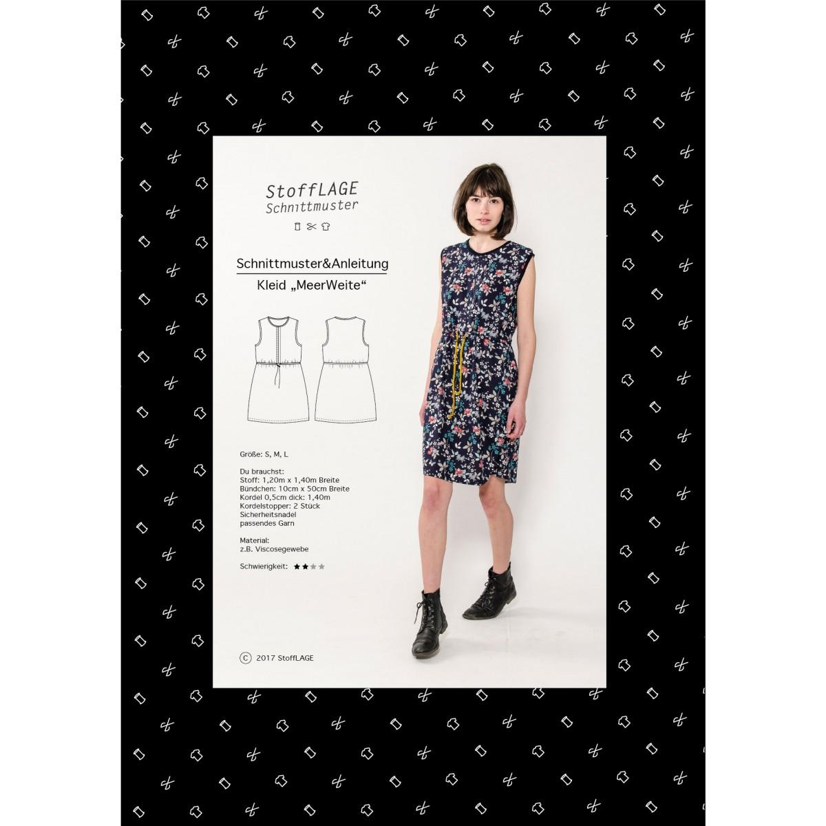 """StoffLAGE Schnittmuster Kleid """"Meerweite"""""""