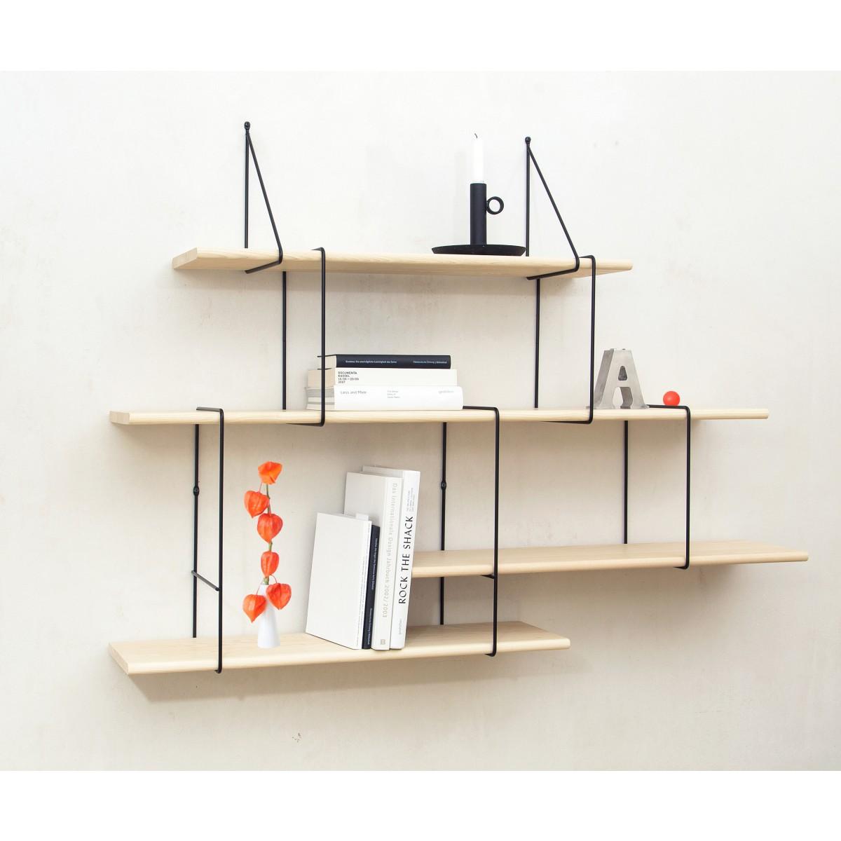 LINK shelving system setup02 ash/black