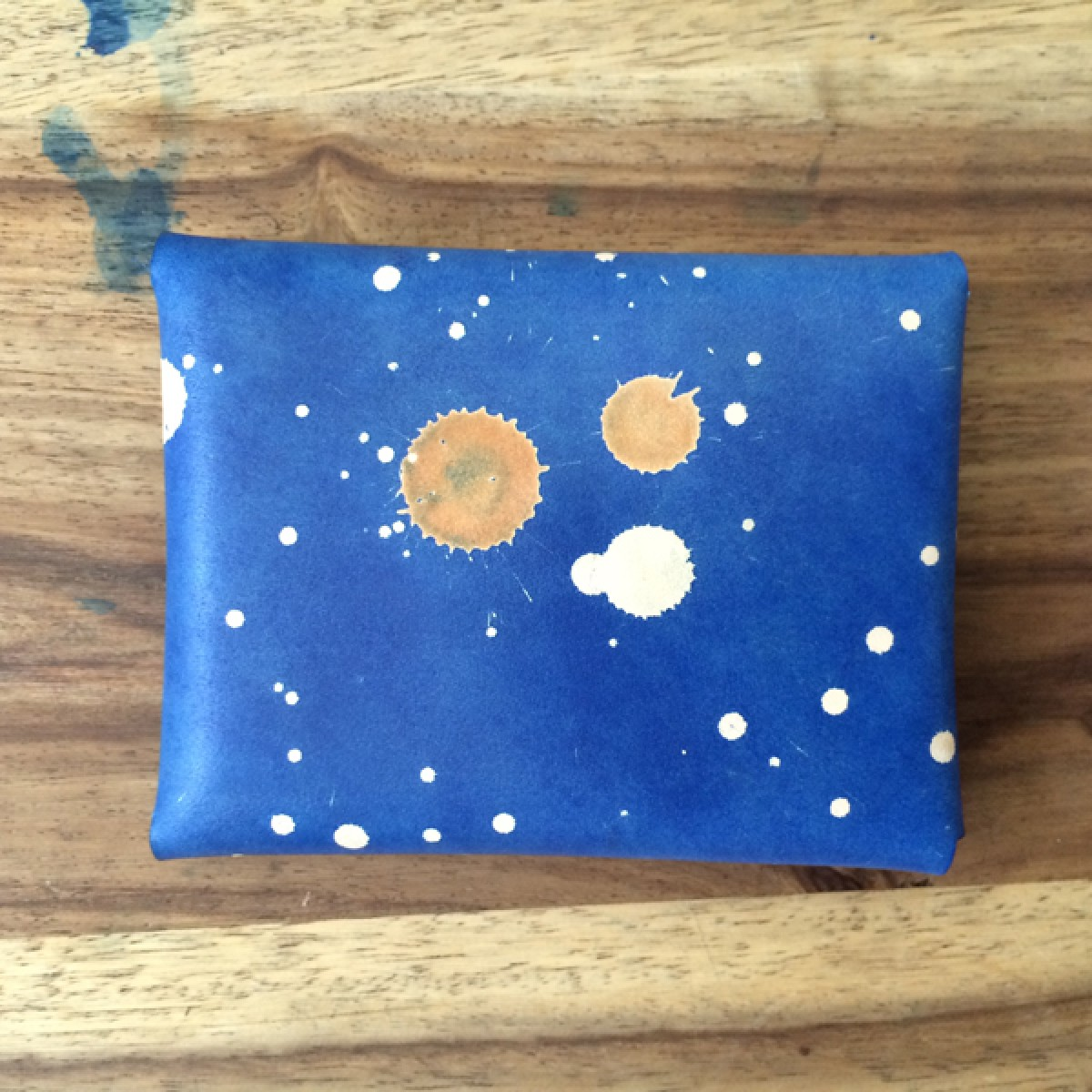 STUDIO MUNIQUE space blue card holder