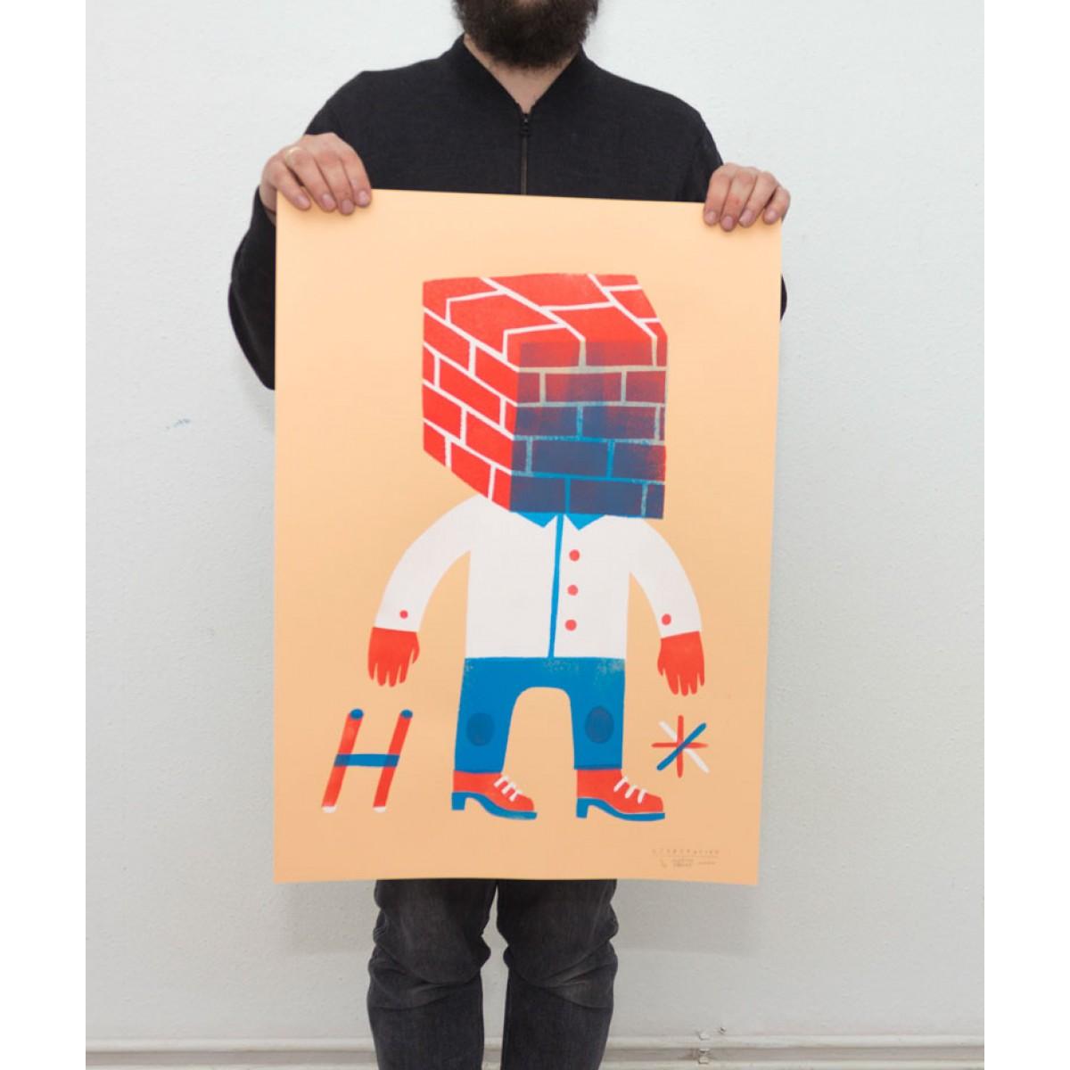 Martin Krusche – Stencil Artprint »Subjektiv« 50x70cm