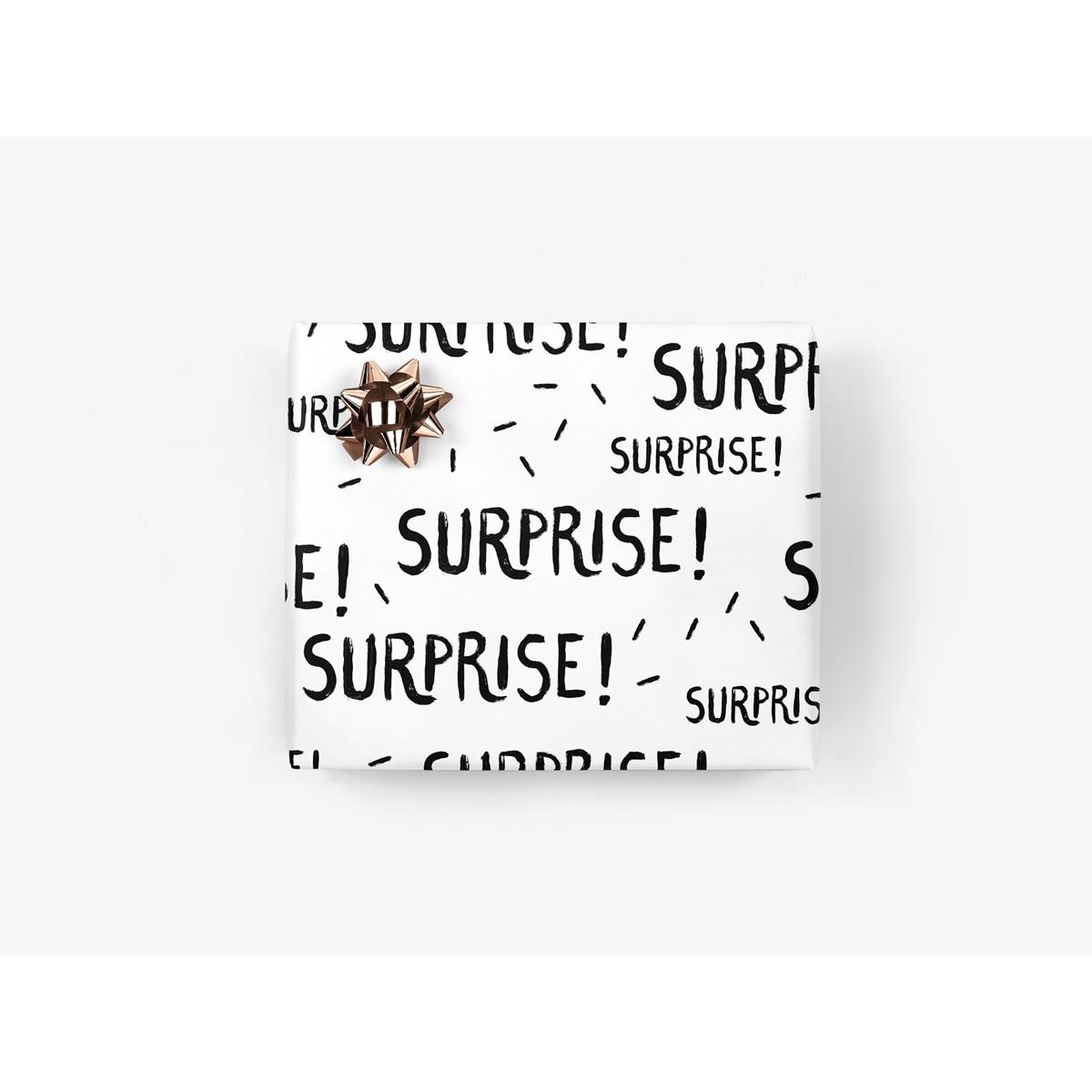 5x Geschenkpapier / Surprise (gefaltet)