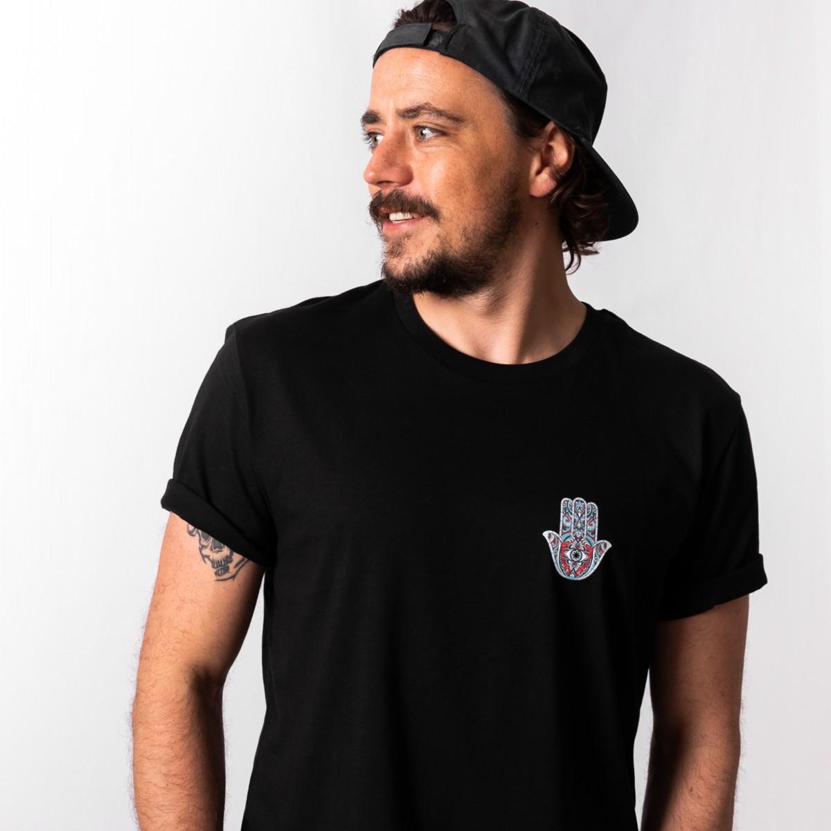 HYRES unisex T-Shirt Hamsa black