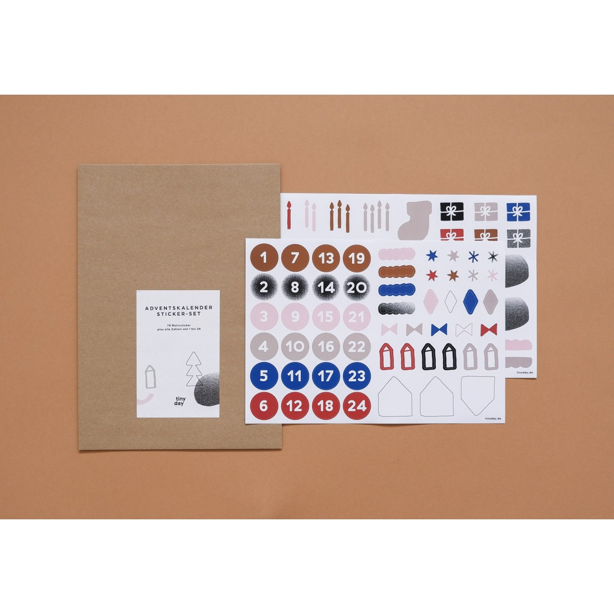 tinyday . Adventskalender Sticker-Set / Aufkleber