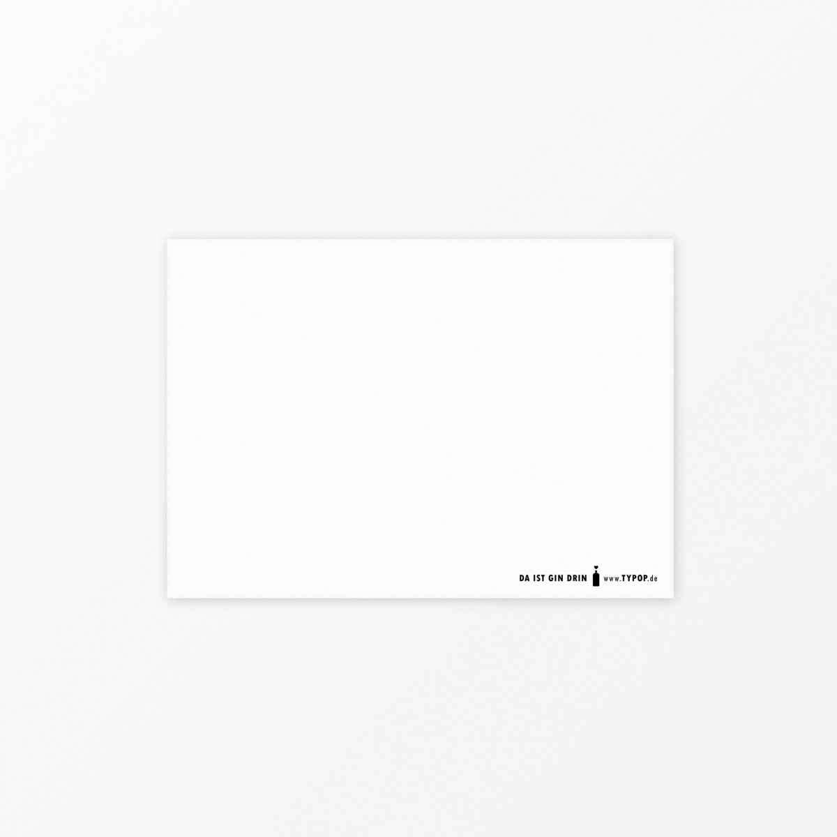 "TYPOP Postkarte ""Ginie"" A6 mit Silberfolie"