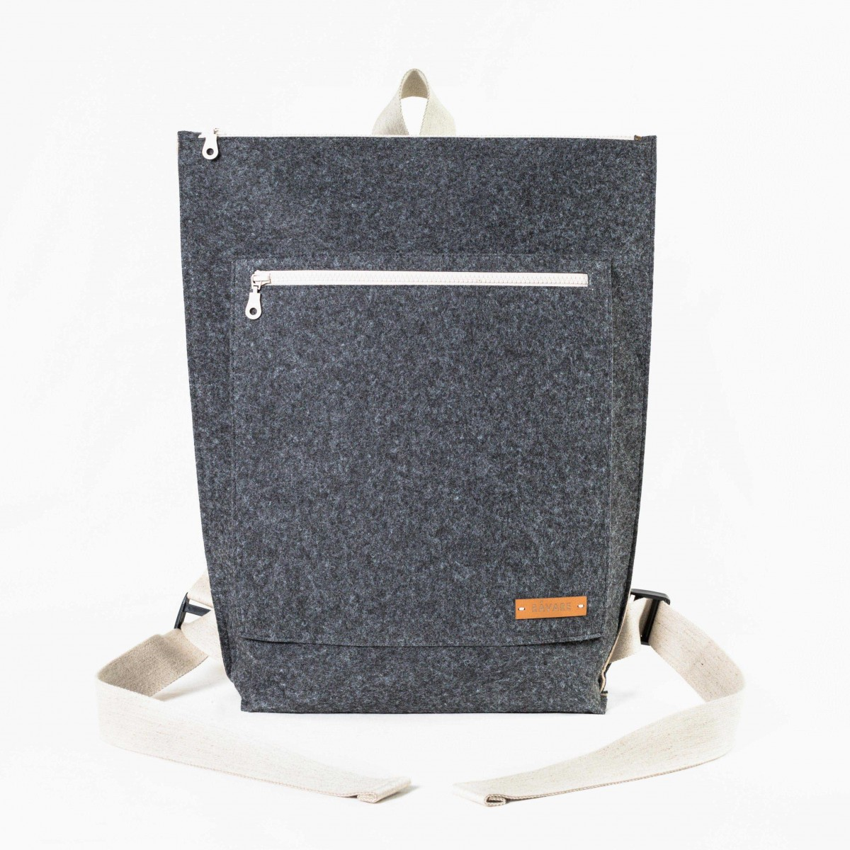 RÅVARE City-Rucksack aus Nadelfilz grau-beige [TAMO]