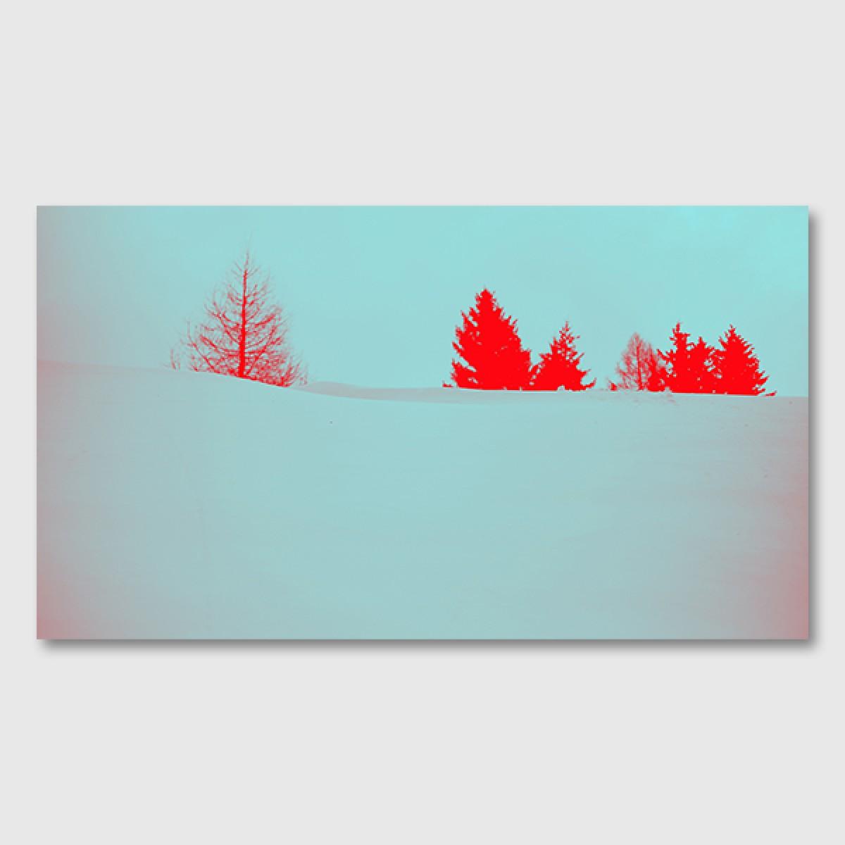 """ZEITLOOPS """"Tannen, rot"""", Posterprint"""