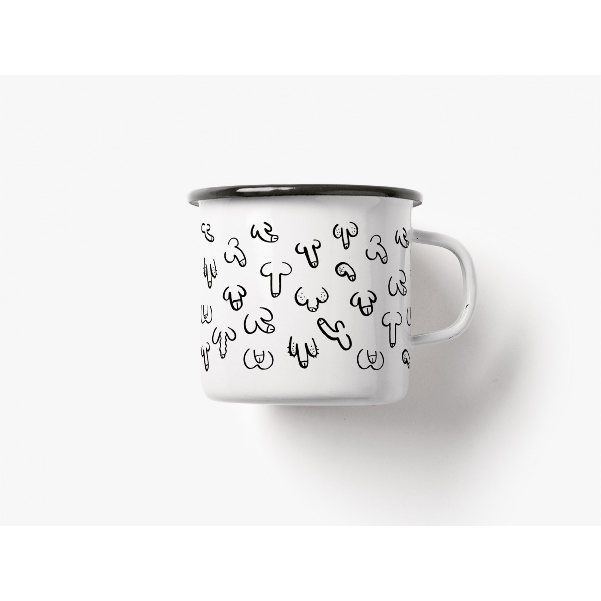 "typealive / Emaillebecher Tasse / Set ""Mr & Mrs"""