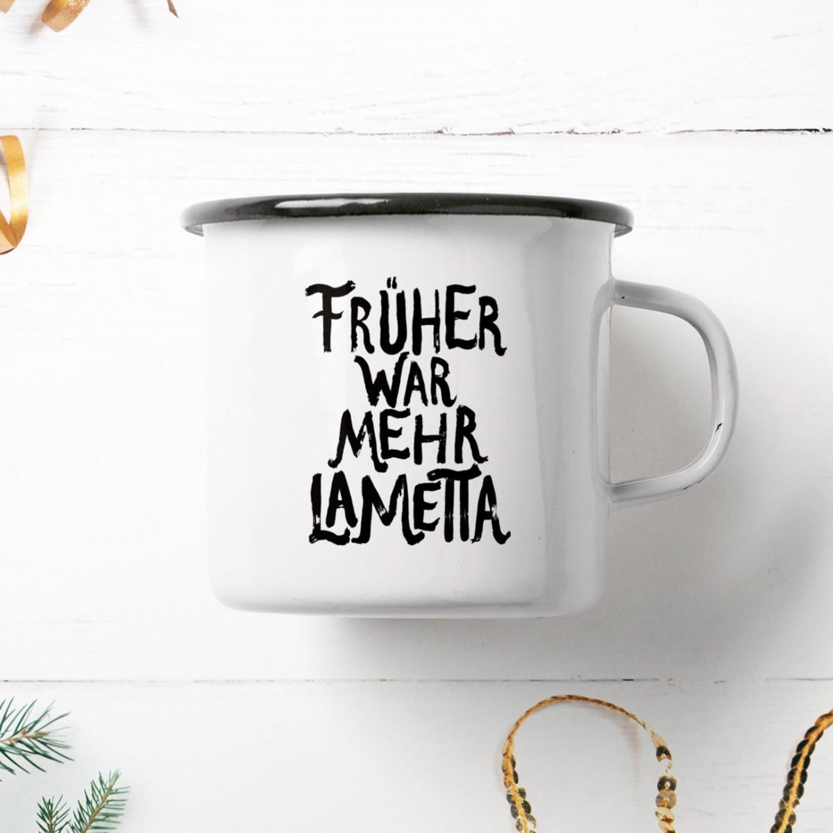 typealive / Emaillebecher Tasse / Lametta