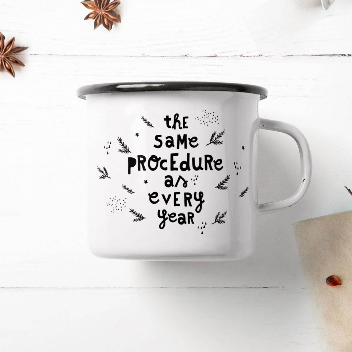 typealive / Emaillebecher Tasse / Procedure