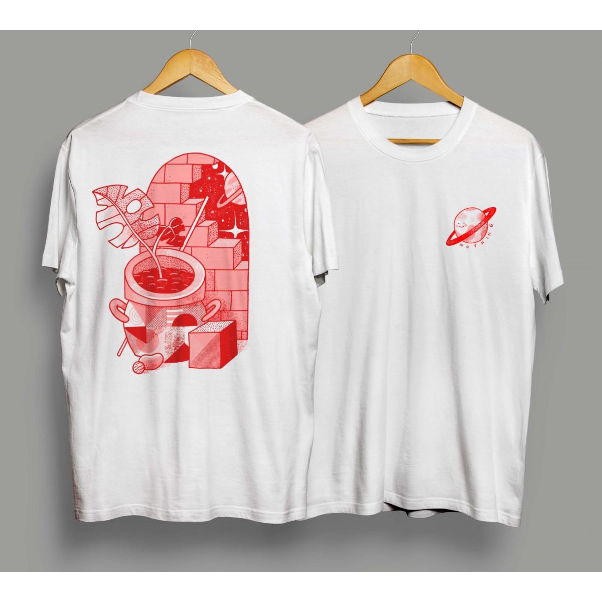 Martin Krusche - T-Shirt »The Wall«, Männer, Weiss