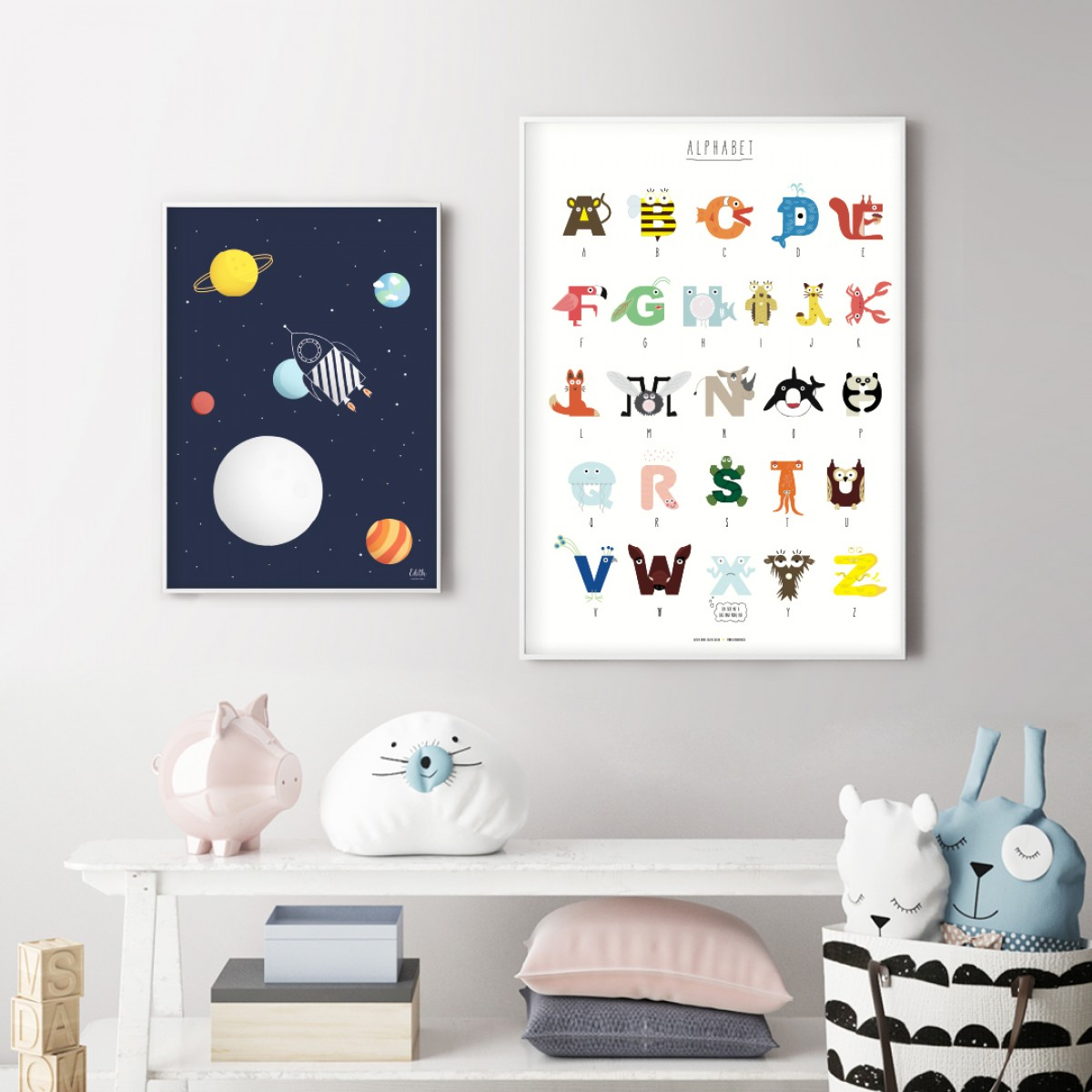 Tieralphabet Poster A2