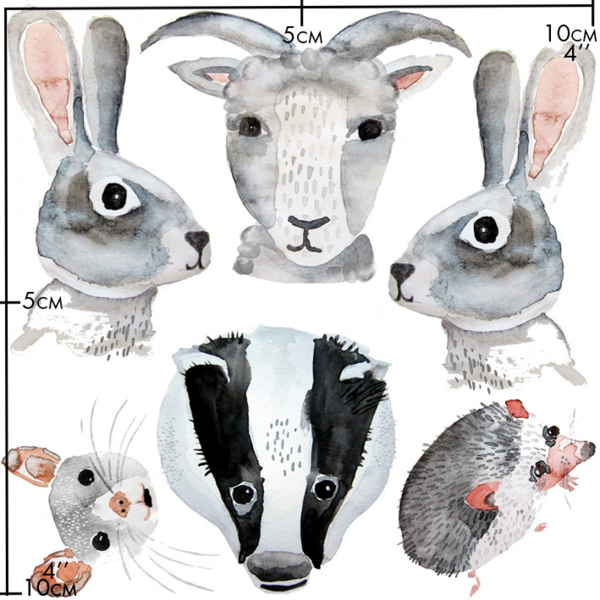 nuukk Tiere Porzellansticker