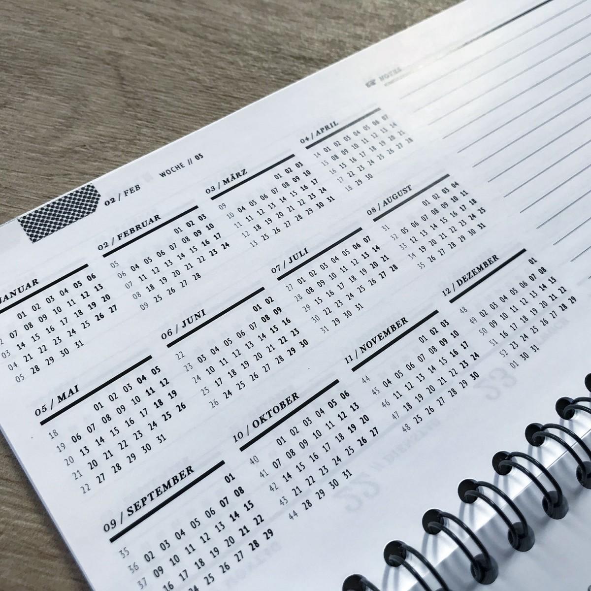 ACD DESIGN.BÜRO / Tisch-Wochen-Terminkalender 2019